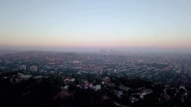 sunset over la - dusk stock videos & royalty-free footage