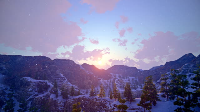 Sonnenuntergang über winter Landschaft