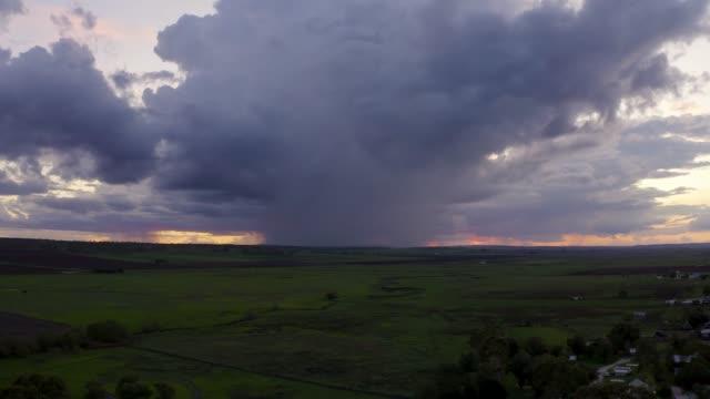 sunset rain - microburst stock videos & royalty-free footage