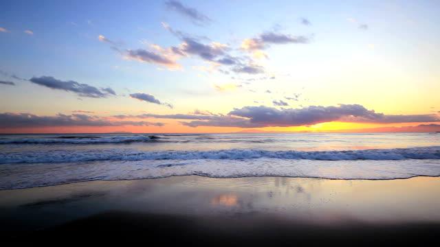 sunset scene on the sea. - plusphoto stock videos & royalty-free footage