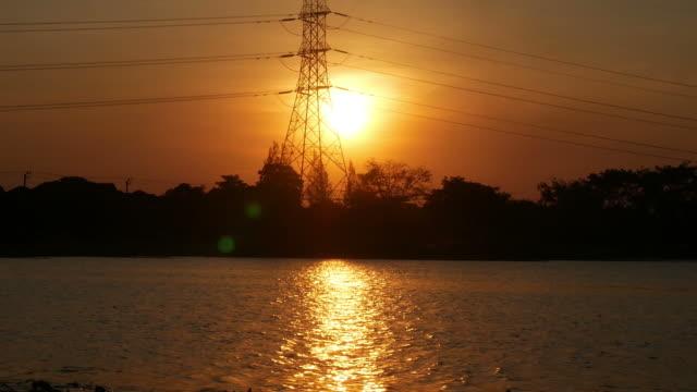 zonsondergang scène