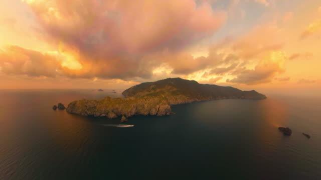 sunset scenery over seomdung-bando peninsula in gageodo island / sinan-gun, jeollanam-do, south korea - bergsvägg bildbanksvideor och videomaterial från bakom kulisserna
