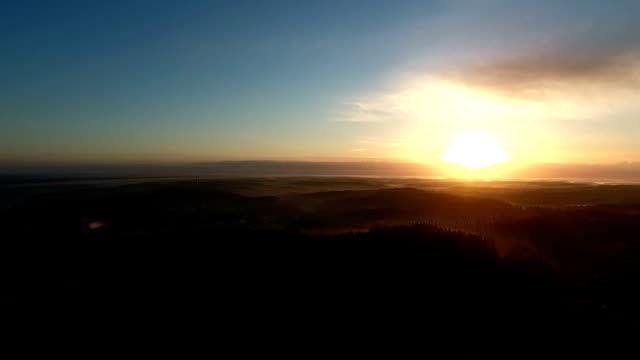 sunset scenics aerial video - quadcopter stock videos & royalty-free footage