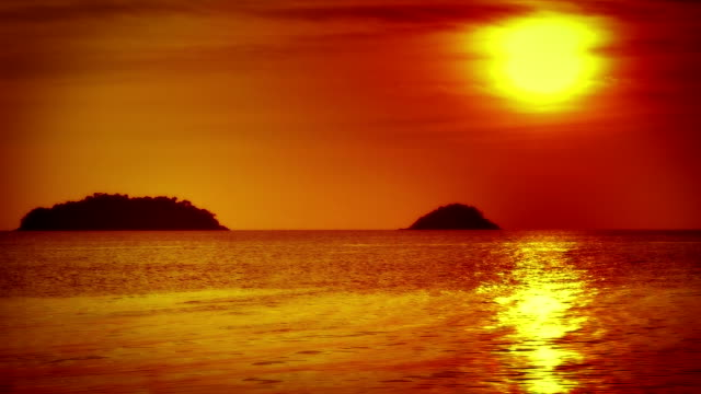 sunset, sea and islands - water's edge stock videos & royalty-free footage