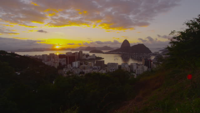Sunset shot over Botafogo Bay.