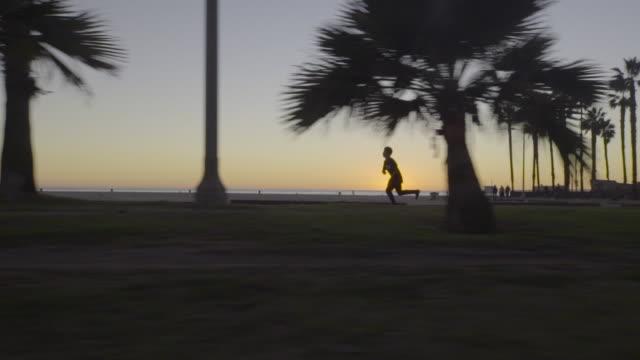sunset skateboarding california lifestyle - skateboard stock videos & royalty-free footage