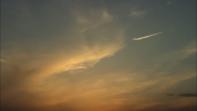 ms la sunset sky, beijing, china - wispy stock videos & royalty-free footage