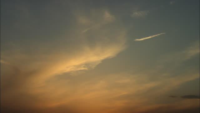ms la sunset sky, beijing, china - ローアングル点の映像素材/bロール