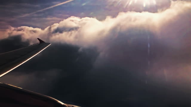 sunset sky from airplane - air vehicle stock videos and b-roll footage
