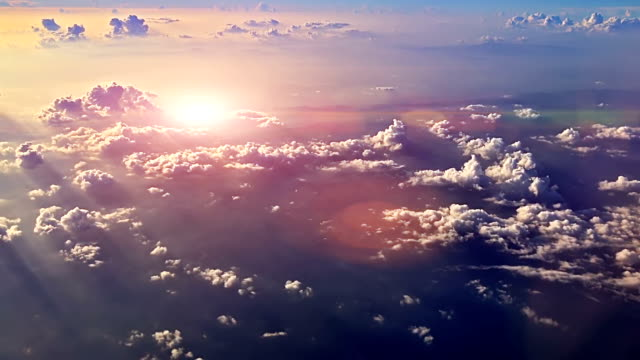 sunset sky from airplane - looking at view stock videos & royalty-free footage