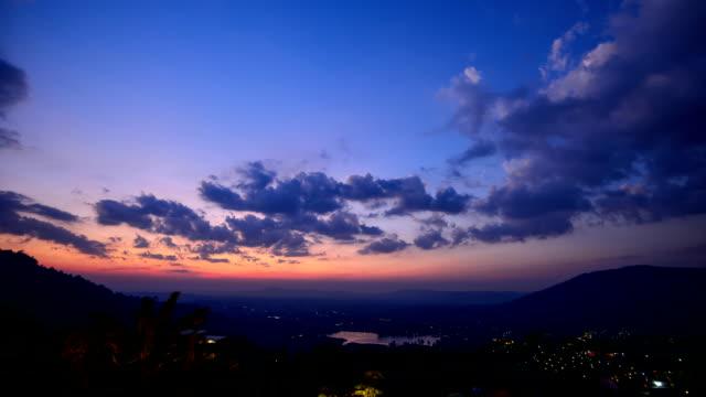 Sunset sky in timelapse
