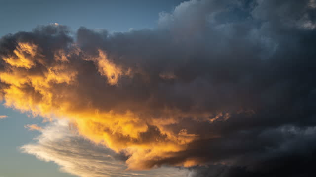 sunset sky with colourful clouds - natural pattern stock videos & royalty-free footage