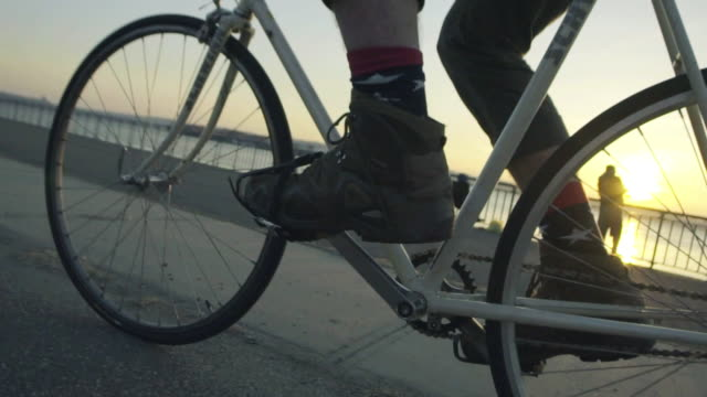 Sunset, Slow Motion Cyclist