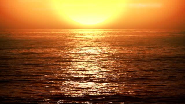 Sunset, slow motion