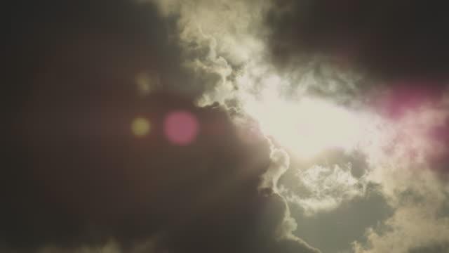 Sunset, smoke and clouds, Kirishima, Japan, February 2011