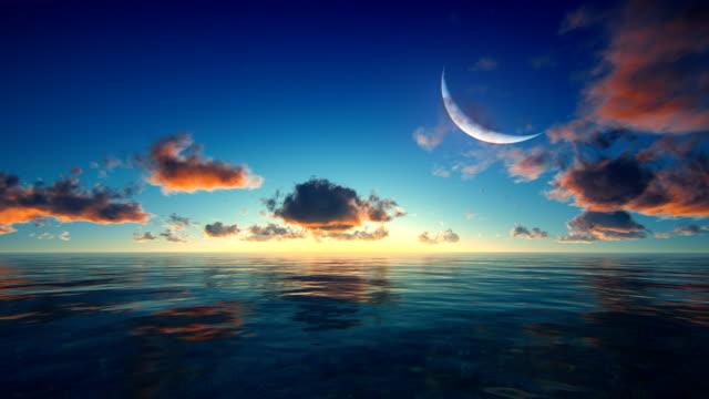 サンセット/日の出熱帯の海 - 夕暮れ点の映像素材/bロール