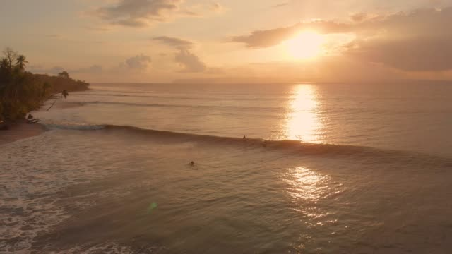 sunset surf - water sport stock videos & royalty-free footage