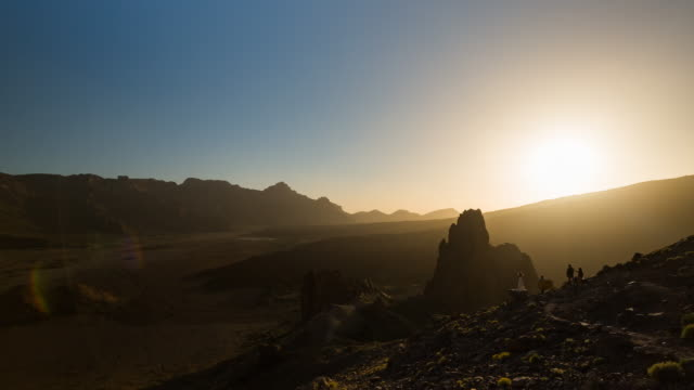 4K sunset Time lapse of El Teide National Park, spring 2016, tenerife, Spain