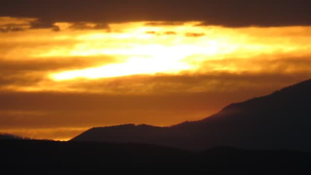 Sunset time lapse over Santa Fe