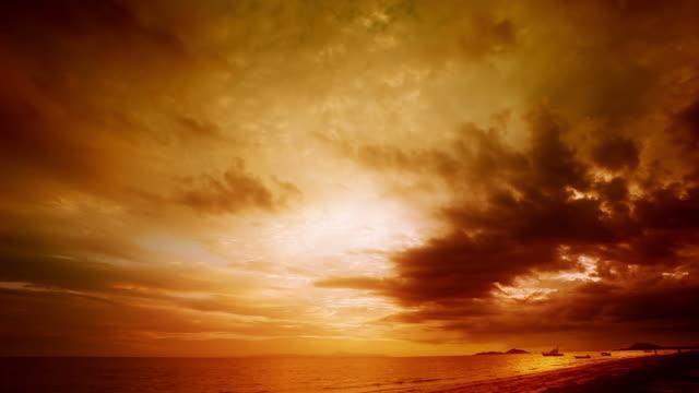 sunset time lapse - horizon stock videos & royalty-free footage