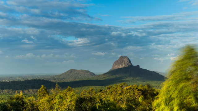 Sunset Timelapse at Glass House Mountains, Australia in 4K