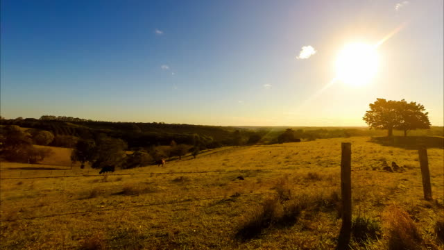 Sunset timelapse at hinterland of Byron Bay, New South Wales, Australia
