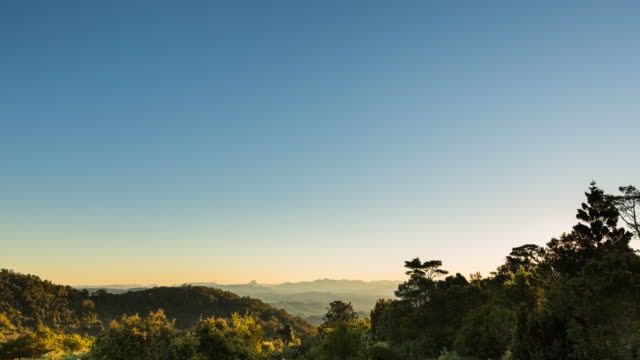 sunset timelapse at lamington national park, queensland, australia in 4k - national park stock videos & royalty-free footage
