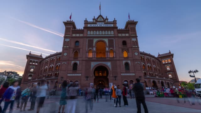 Sunset Time-lapse at Plaza de Toros in Madrid