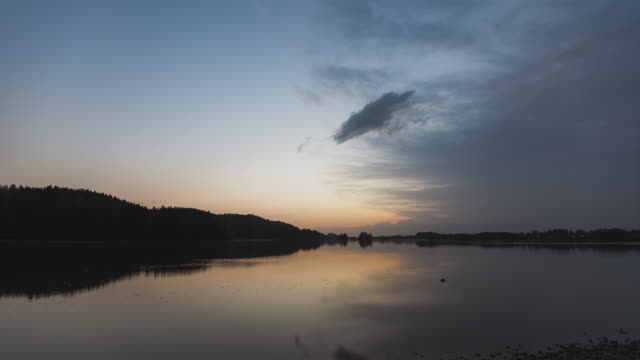Sunset Timelapse at Seehamer Lake near Munich, Bavaria, Germany