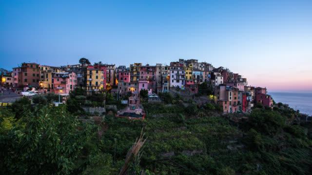 5 TERRE - TL: Sunset TimeLapse of Corniglia in Liguria, 5 Terre