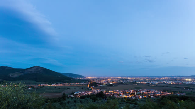 MONTEMURLO - TL: Sunset TimeLapse of Montemurlo in Tuscany near Florence