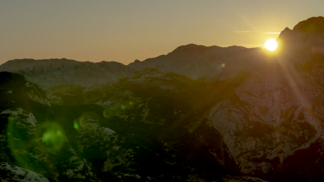 sunset timelapse of mountains in durmitor national park - durmitor national park stock videos & royalty-free footage