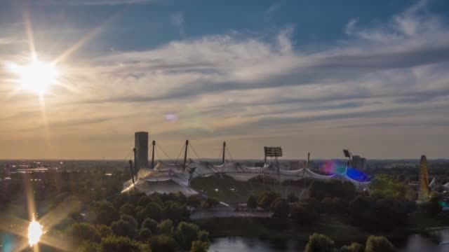 sunset timelapse of munich - munich stock videos & royalty-free footage