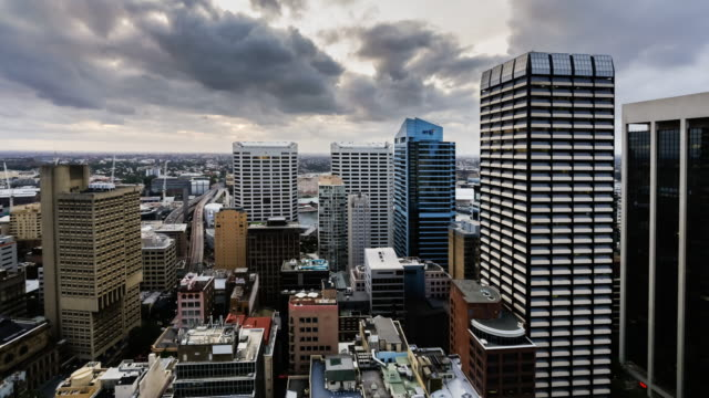 Sunset Timelapse of Sydney CBD from 40 floor, Sydney