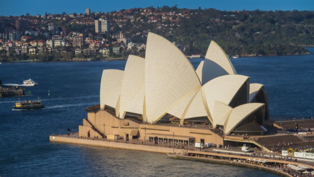 Sunset timelapse of Sydney Opera House in 4K
