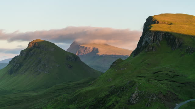 Sunset Timelapse of the Quiraing in Isle of Skye, Scotland