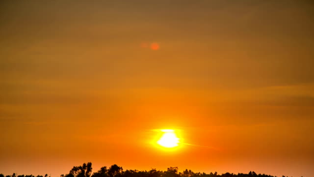 sunset time lapse - emersione video stock e b–roll