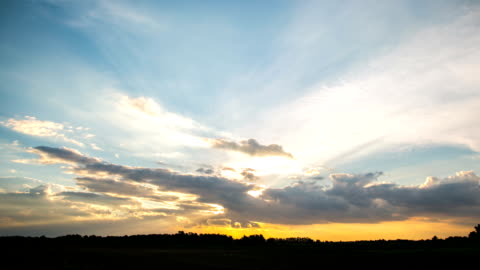 sunset timelapse - emergence stock videos & royalty-free footage
