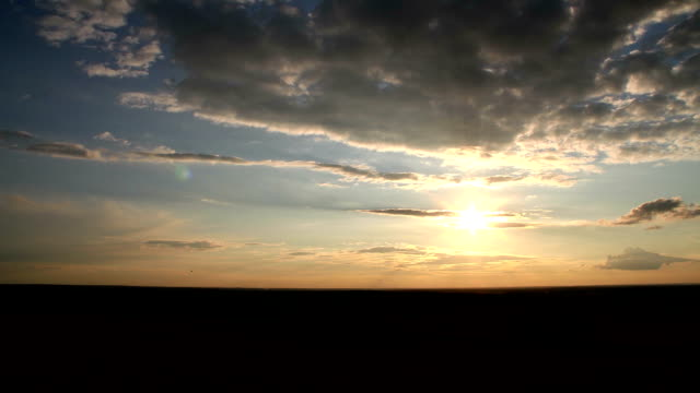 sunset timelapse (poland) - hd 25 fps stock videos & royalty-free footage
