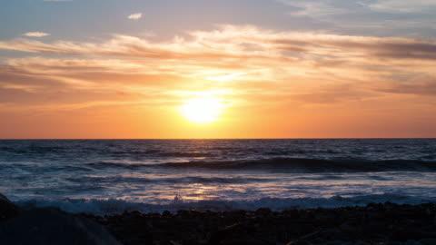 sunset timelapse - carlsbad california stock videos & royalty-free footage