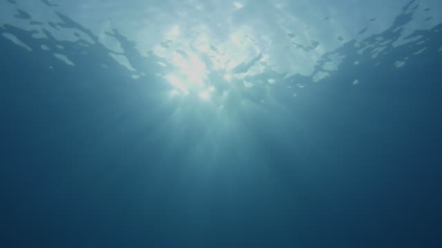 Sunset underwater