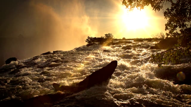 sunset victoria falls - victoria falls stock videos and b-roll footage