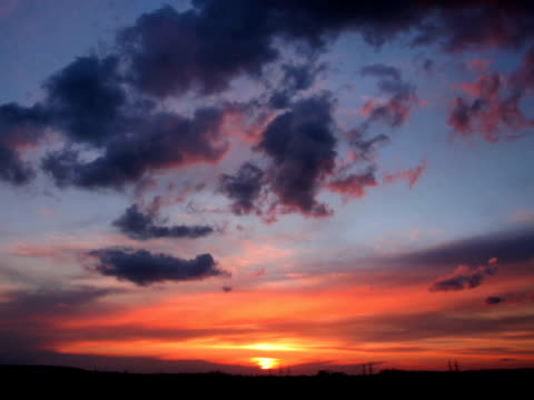 pal: sunset - saturated colour stock videos & royalty-free footage