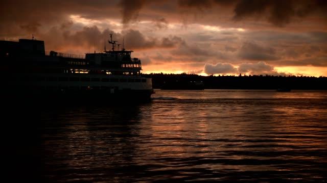 solnedgången - elliott bay bildbanksvideor och videomaterial från bakom kulisserna