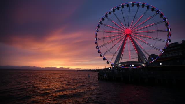 sunset - big wheel stock videos & royalty-free footage