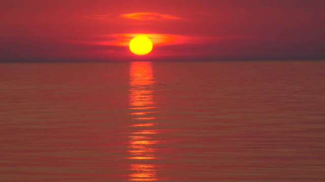 sunset (timelapse) - seascape stock videos & royalty-free footage