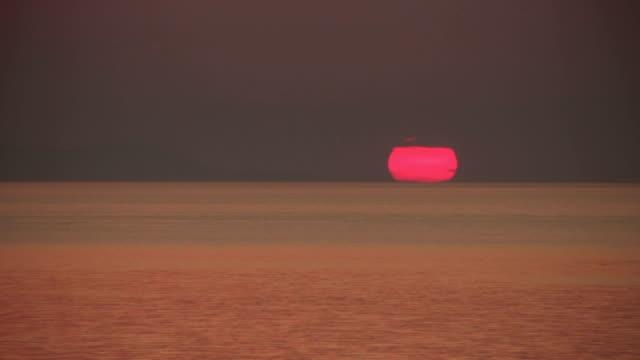 sunset (time lapse) - mykonos stock videos & royalty-free footage