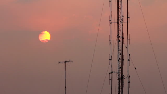 sunset - telegraph pole stock videos and b-roll footage