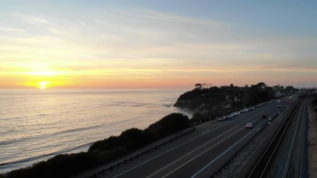 sunset - carlsbad california stock videos & royalty-free footage