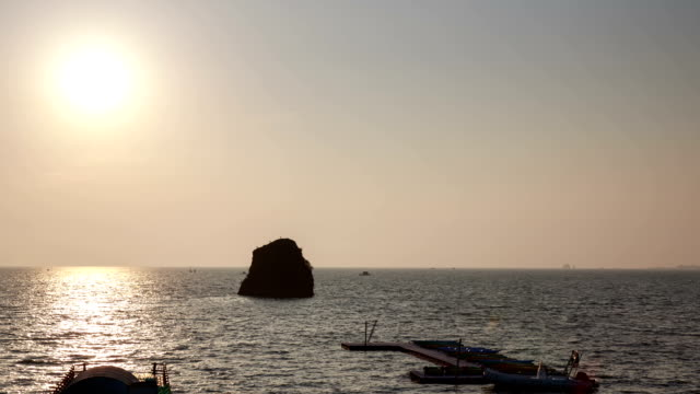 Sunset view of Baekmiri Fishing village (Travel Destination)
